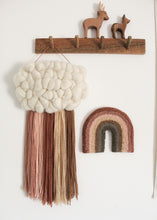 Midi Rainbow Dusky Earth Tones Fibre Art Decoration.