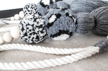 Curtain Tiebacks Chunky Grey Tassel with Tonal Poms