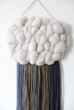 Cloud Woven Wall Hanging in Deep Blues and Greens