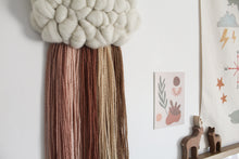 Cloud Woven Wall Hanging Warm Dusky Earth Tones Rainbow