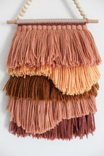 Shag Fringe Weave with Shapes in Warm Earth Mix