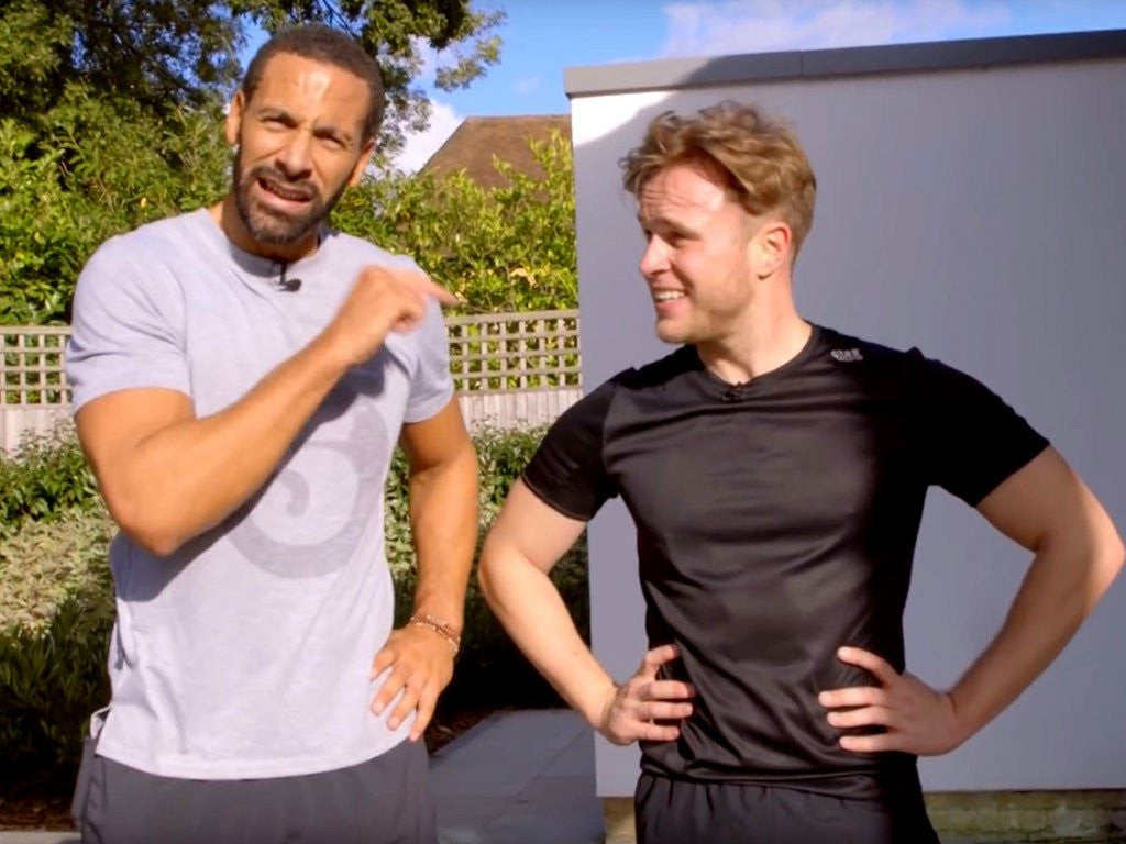 Olly Murs takes on Rio Ferdinand in the FIVE Fitness Challenge