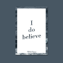 Belief Postcard (sea border version)