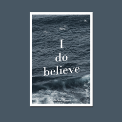 Belief Postcard (white border version)