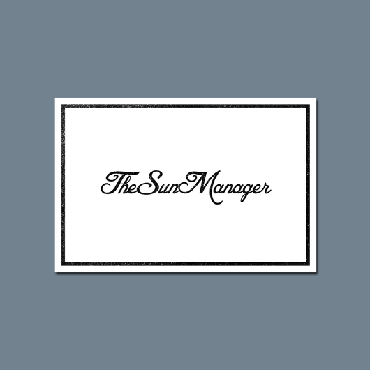 TheSunManager Logo - Postcard