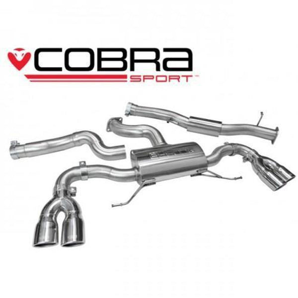 Cobra Sport Resonated Cat-Back Exhaust System S1 Quattro-Cobra-Drift Society