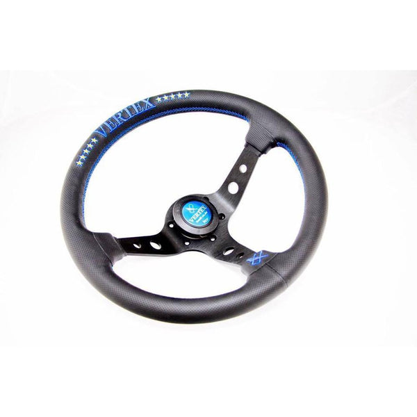 VERTEX 10 STAR BLUE STEERING WHEEL-Vertex-Drift Society