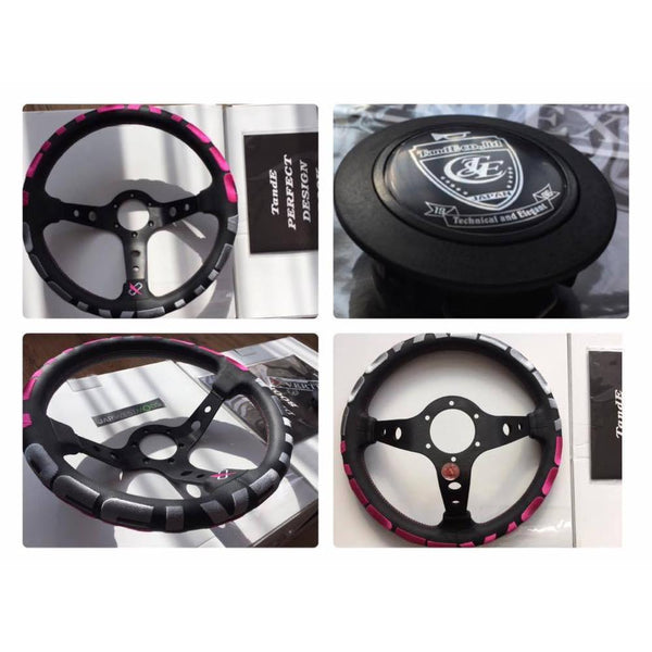 VERTEX PINK STEERING WHEEL-Clearance Parts-Drift Society