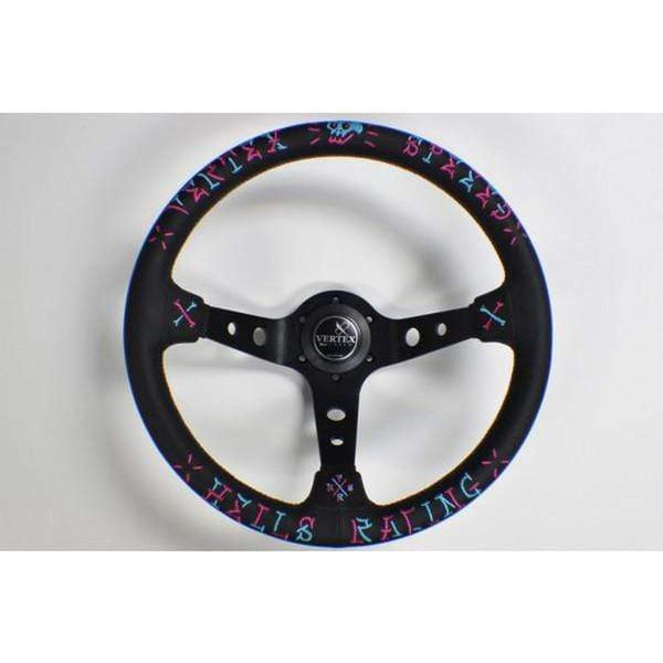 VERTEX SPEED BLUE & PINK STEERING WHEEL-Vertex-Drift Society
