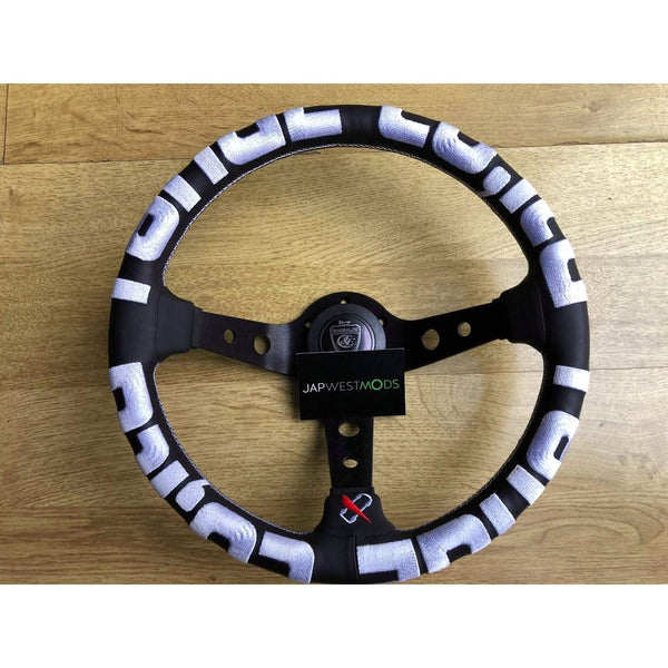 VERTEX T&E STEERING WHEEL WHITE-Vertex-Drift Society
