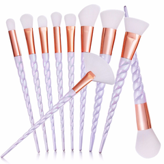 Professional 10 Piece Unicorn Brush Set
