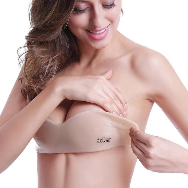9a2400c690 Invisible One Piece Silicone Push Up Bra