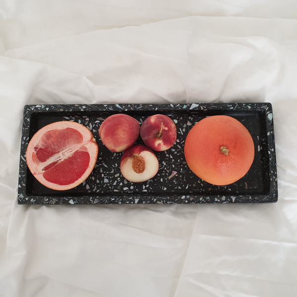 Terrazzo Rectangle Shell Tray