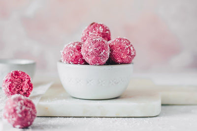 Vegan Chocolate Raspberry Protein Balls