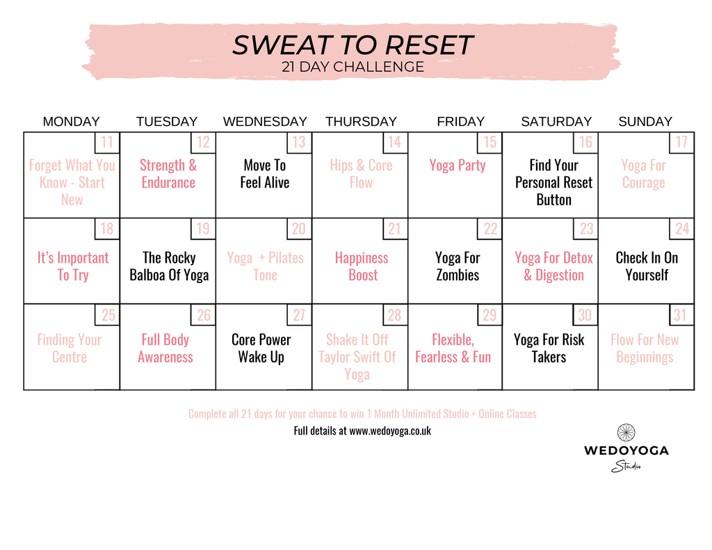 21 Day Challenge - Sweat To Reset