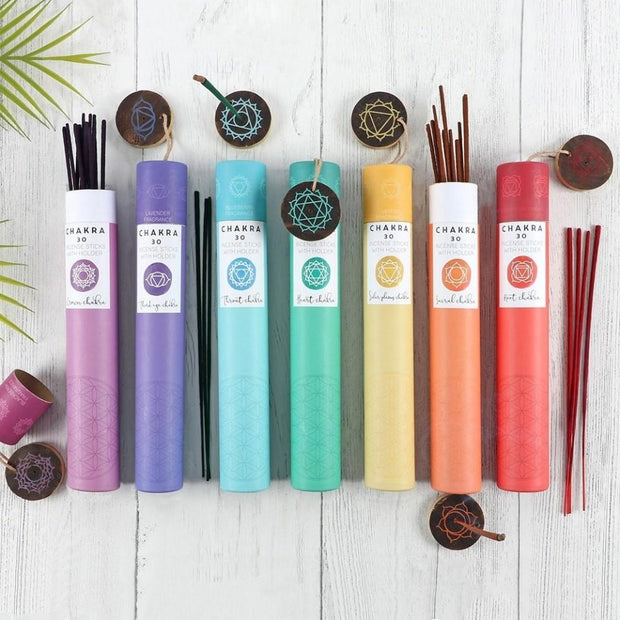 Mio Yoga Props 30 x Chakra Incense Sticks