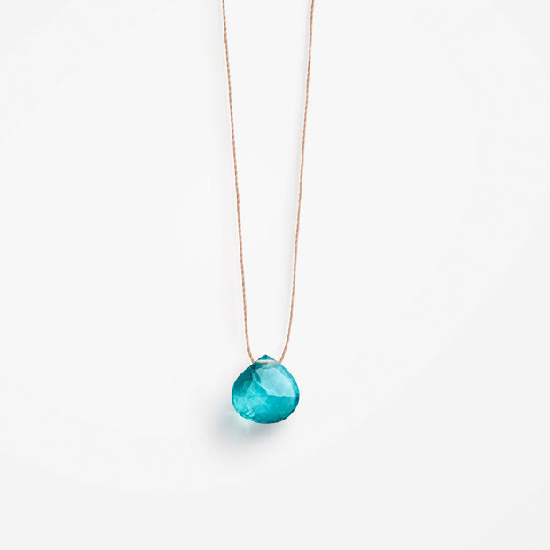 wanderlust life jewellery necklace Apatite Fine Cord Necklace
