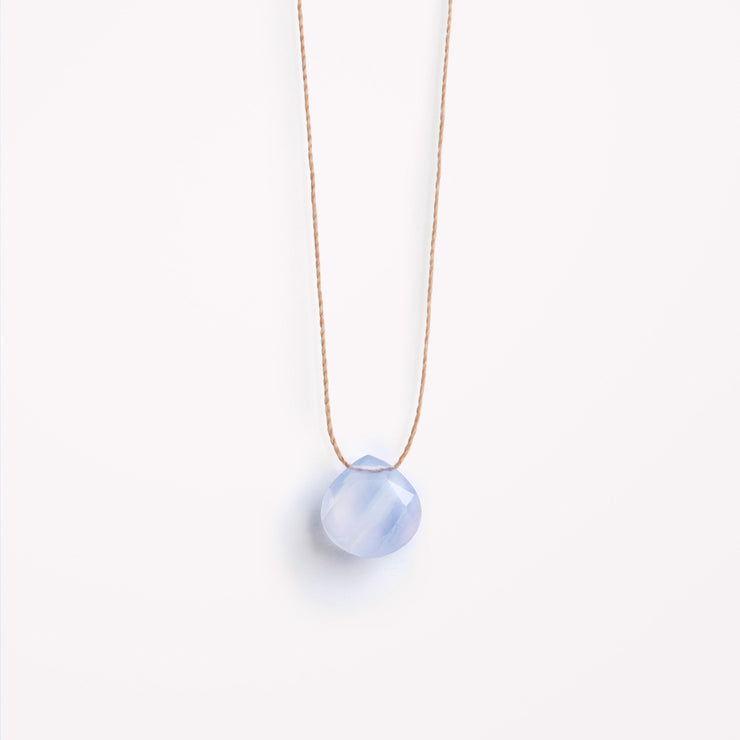 wanderlust life jewellery necklace Blue Lace Agate Fine Cord Necklace