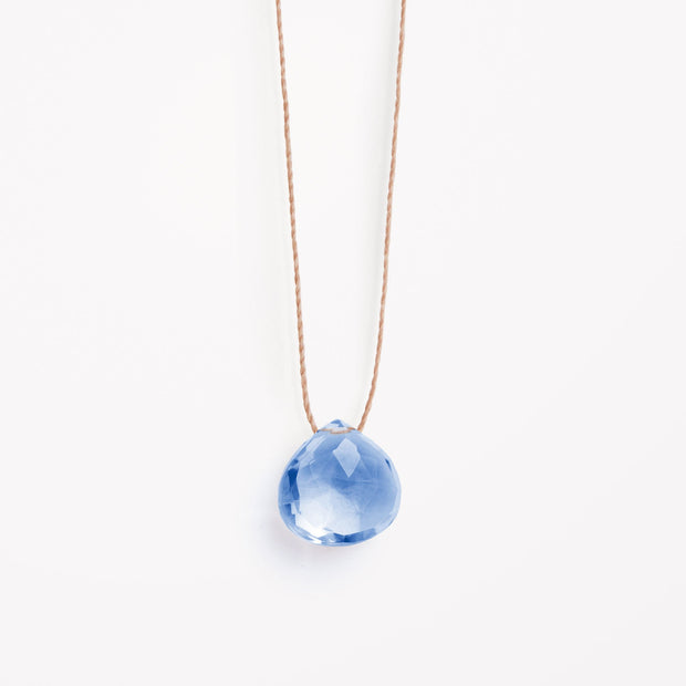 wanderlust life jewellery necklace California Blue Quartz Fine Cord Necklace