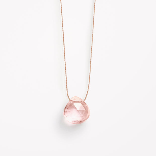 wanderlust life jewellery necklace Champagne Quartz Fine Cord Necklace