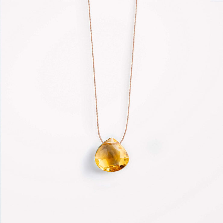 wanderlust life jewellery necklace Citrine Fine Cord Necklace