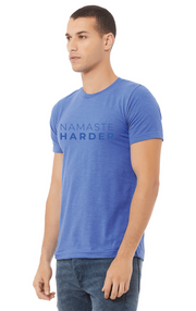 WEDOYOGA Blue Namaste Harder  - Unisex Tee