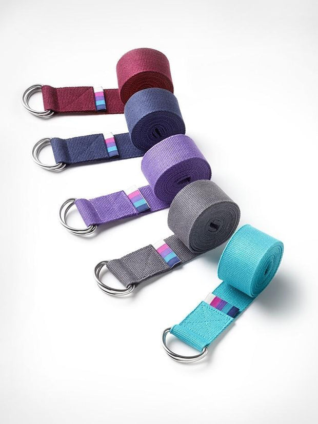 YogaMatters Yoga Props Yogamatters D-ring Yoga Belt - Berry