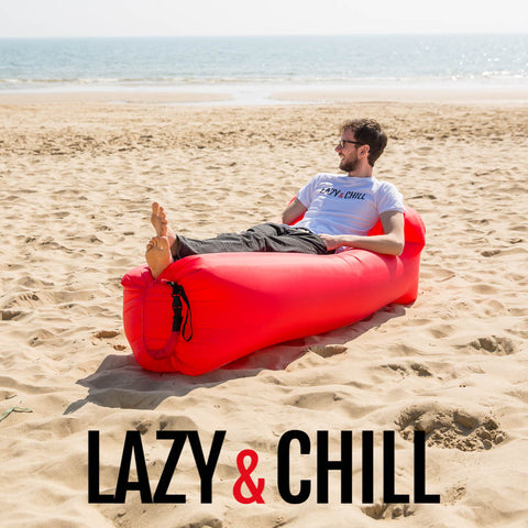 Lazy and Chill Red Lounger
