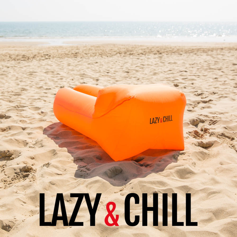 Lazy and Chill Orange Lounger