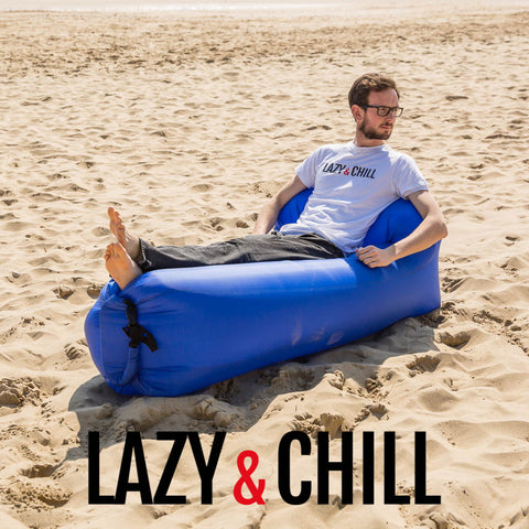 Lazy and Chill Navy Lounger