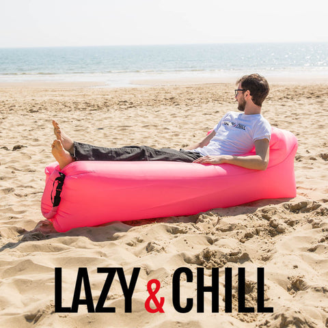 Lazy and Chill Pink Lounger