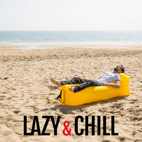 Lazy and Chill Yellow Lounger