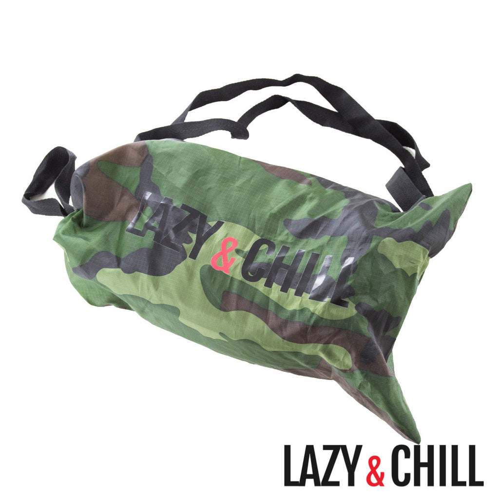 Lazy and Chill Camo Lounger - Lazy & Chill lounger and pod