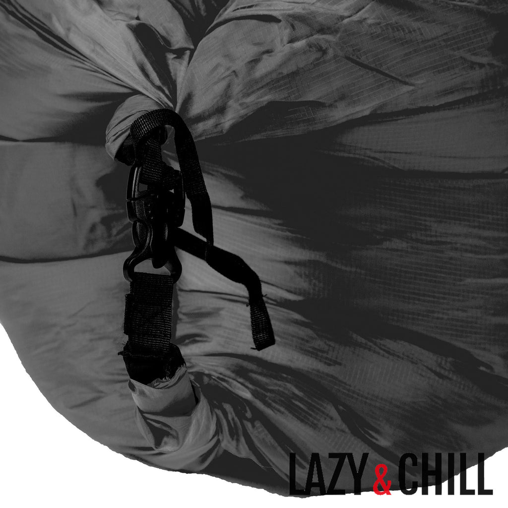Lazy and Chill Black Pod - Lazy & Chill lounger and pod