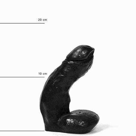 All Black AB01 Small Dildo with Balls