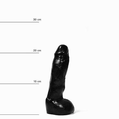 All Black AB11 9 Inch Dildo with Balls