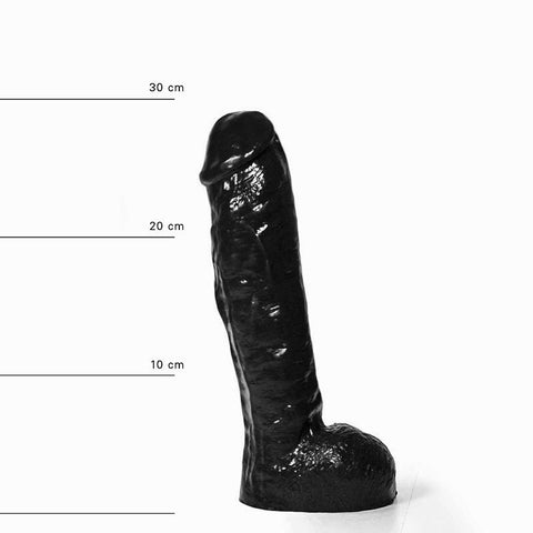 All Black AB34 Thick 11 Inch Dildo