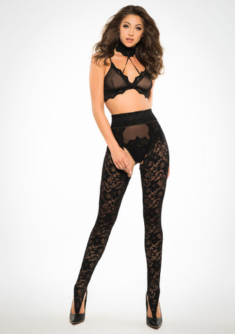 Adore Lace Chaps, Panty And Bra