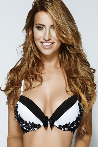 By Caprice Oh La La Ice Black and White Padded Bra