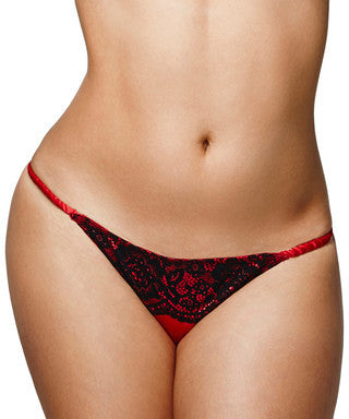 By Caprice Precious Rossini Red Lace Brazilian - The Pantie Purse