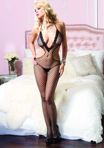 Leg Avenue Deep V-Cut Fishnet Bodystocking - The Pantie Purse