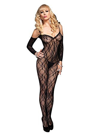 Leg Avenue Flower Lace Bodystocking - The Pantie Purse