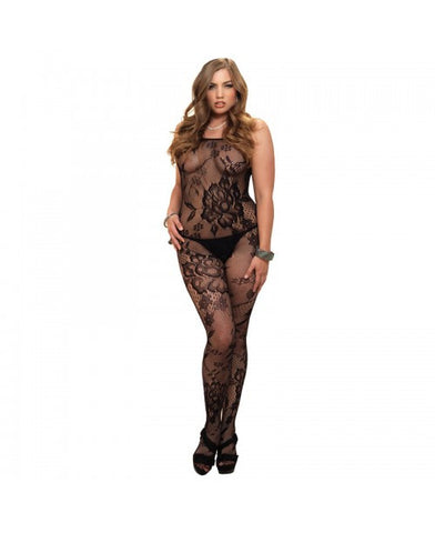 Leg Avenue Plus Size Lingerie Floral Bodystocking - The Pantie Purse