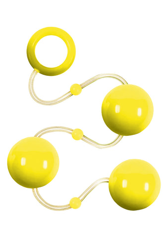 Renegade Neon Yellow Please Balls Anal Beads - The Pantie Purse
