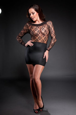 Provoke - Lace Wetlook Sexy Dress - The Pantie Purse