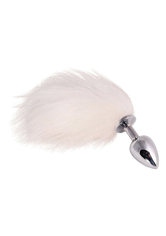 JEWELLERY ANAL PLUG WITH FLUFFY TAIL - The Pantie Purse