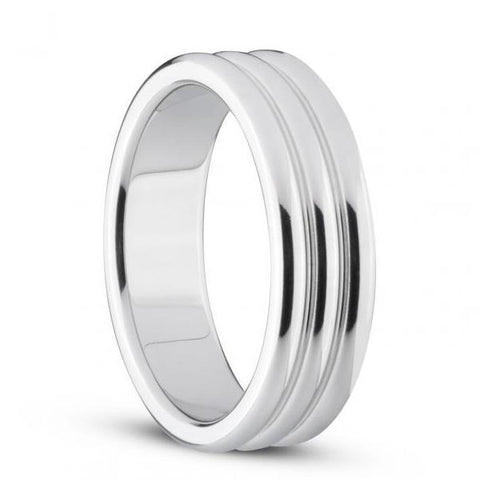 Sinner Ribbed Metal Cock Ring