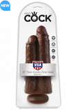 King Cock 9 inch Two Cocks One Hole Dong