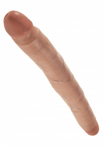 King Cock 12″ Slim Double Ended Dildo