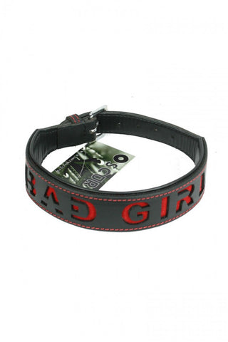 Leather Bad Girl Collar - The Pantie Purse